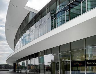 facciata in alluminio simil acciaio a Milano