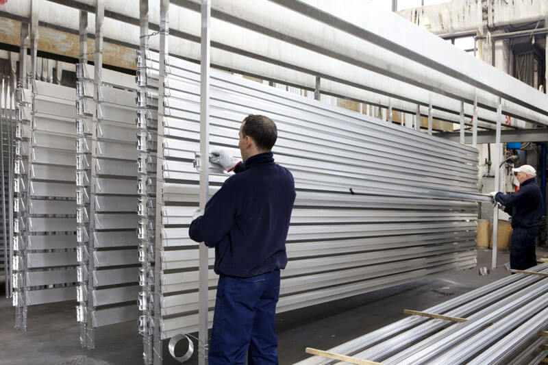 trattamenti di ossidazione anodica alluminio